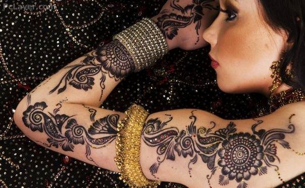 Henna Full Arm Designs Latest Full Arm Spring Henna