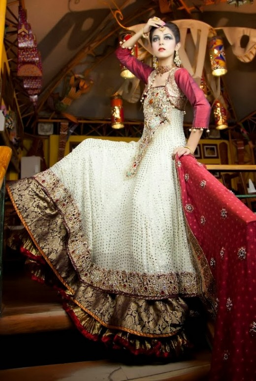 Luxury Wedding Outfits For Pakistani Brides 2015
