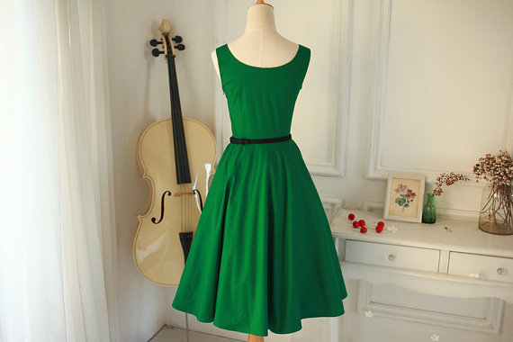 15 Outstanding Green Christmas Dresses