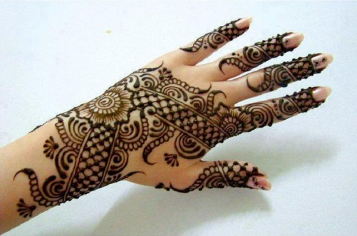Back Hand Indian Mehndi Designs for Women