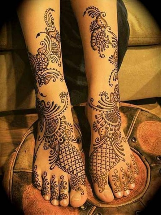 Beautiful Mehndi Designs 2016 for Feet