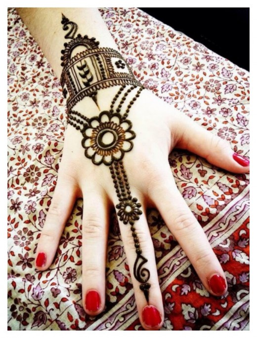 Easy Hand Mehndi Design for Girls 2016