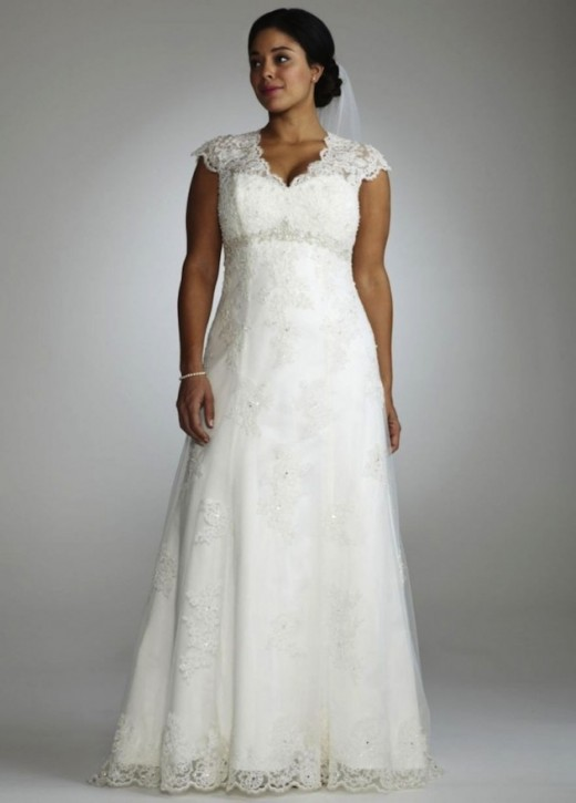 22 beautiful plus size wedding dresses for Size 22w wedding dresses