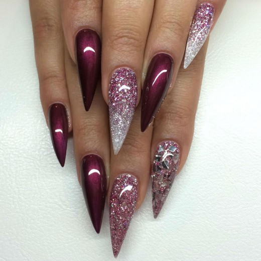 Superb Stiletto Nail Art Designs Yusrablog