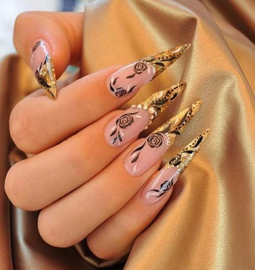 Gold Stiletto Nails Designs 2013 Splendid Wedding Company