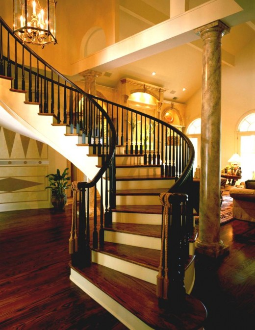 20 beautiful stair designs for Interior design of living room with stairs